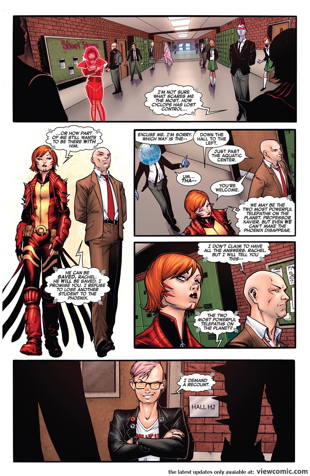 Claims to be one of the 2 most powerful telepaths on the planet during AvX. - Wolverine and the X-Men V1 #15