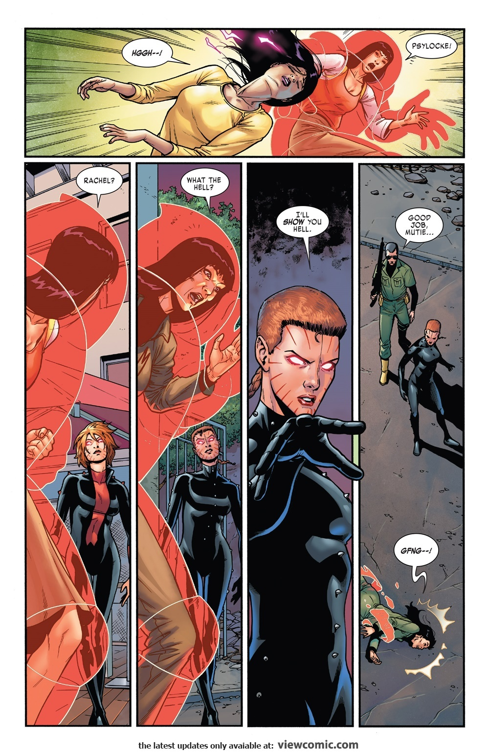 Able to down Psylocke in a single blast shortly after downing Storm - X-Men Gold #32