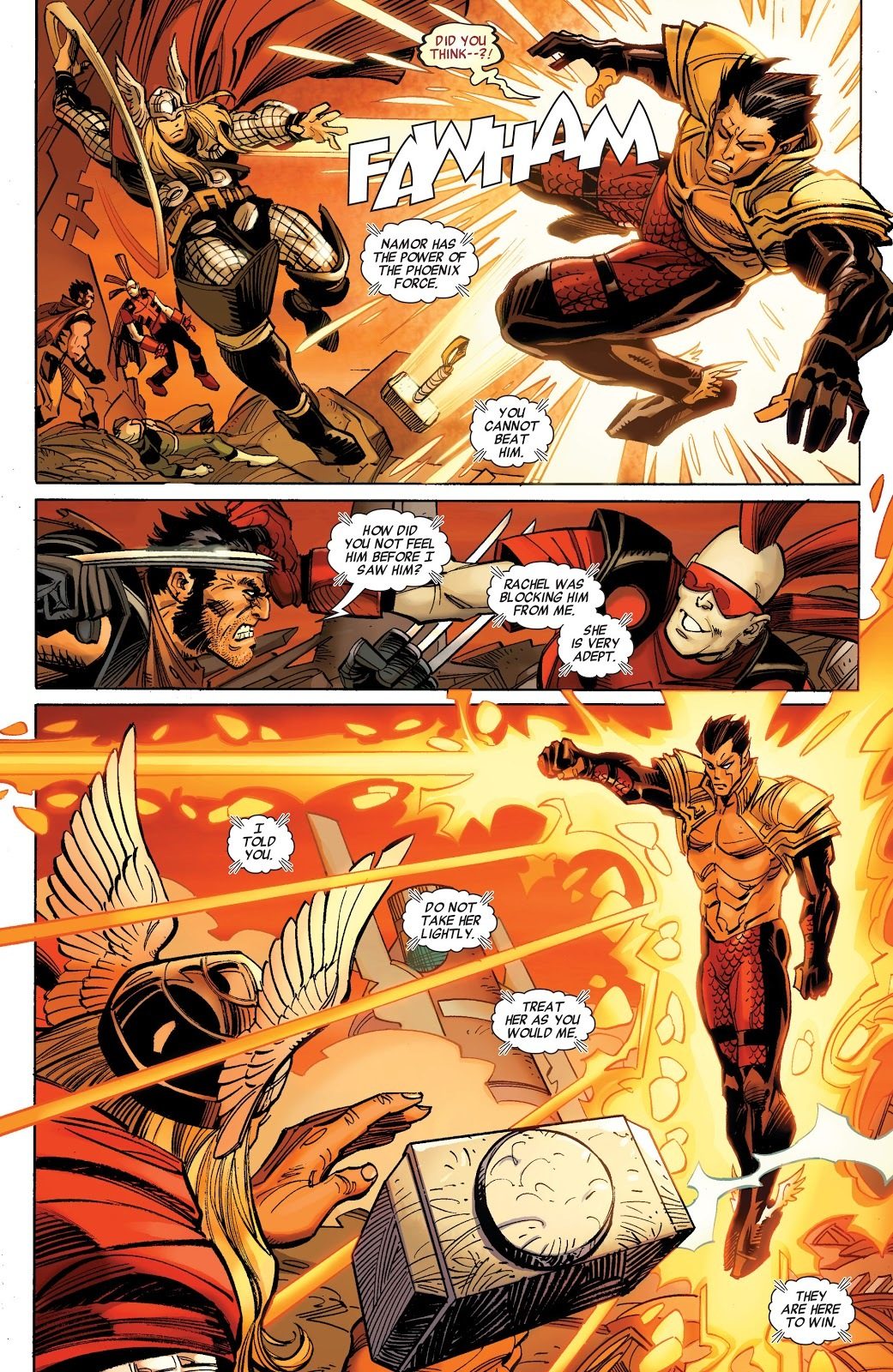 Able to block Xavier from sensing Phoenix Namor without knowing he was there. Xavier warns that Rachel is as much of a threat as he is