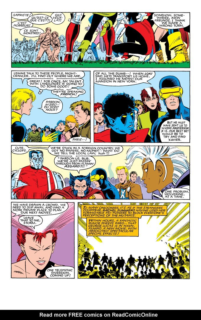 Blocks the perceptions of a mass of people to make the X-Men appear to have vanished