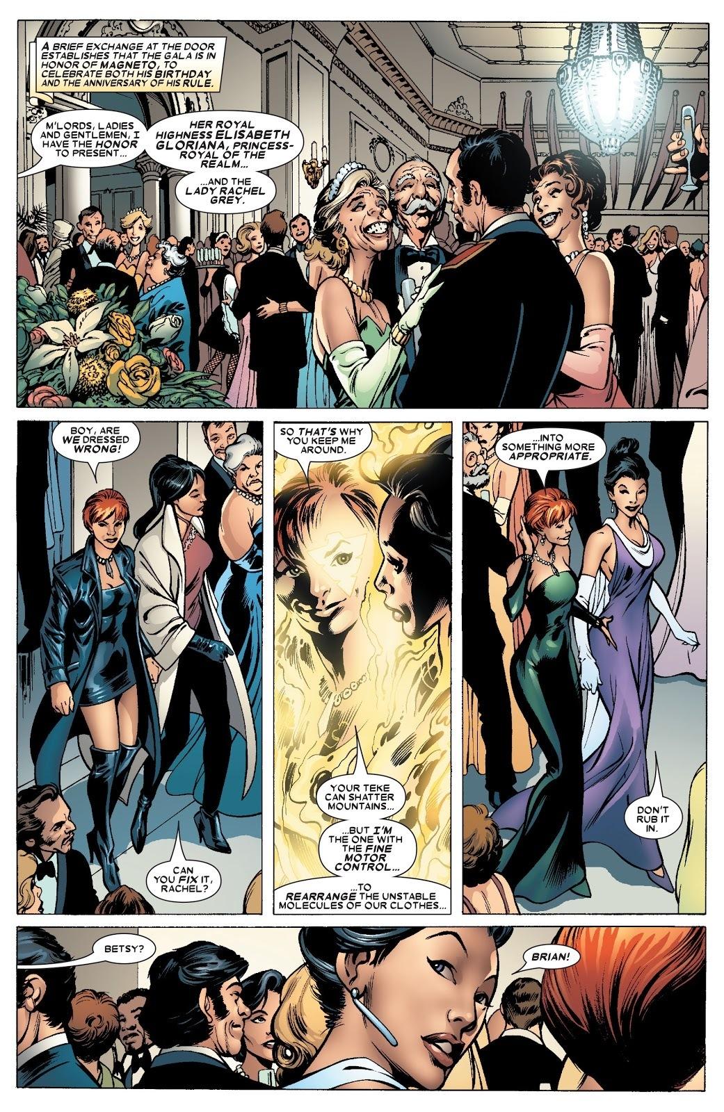 Changes her and Psylocke's clothing - Uncanny X-Men v1 #463