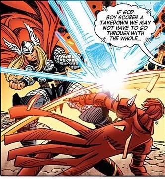 Blocks Thor's Hammer.