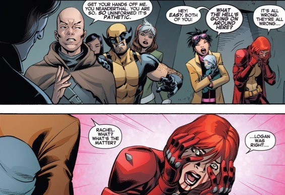 Penetrates Xavier Jr's Psi shields without his knowing and finds out he's evil- X-Men: Battle of the Atom