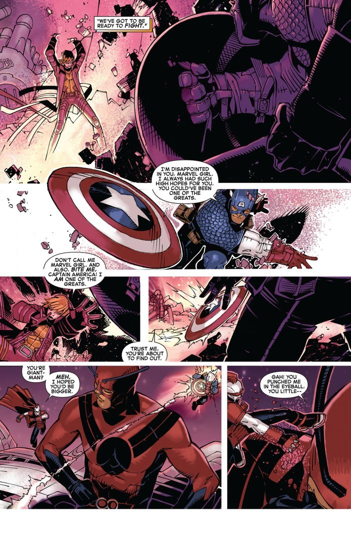 Reflects Captain America's shield with enough force to send him flying over Giant-Man