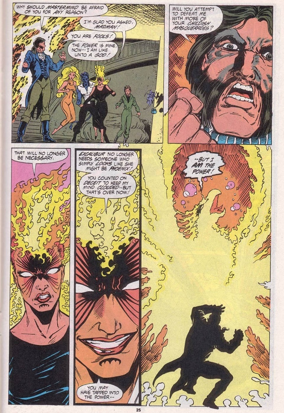 After Mastermind tricks her into letting him tap into the Phoenix Force by pretending to be Franklin Richards Rachel lashes out at him.