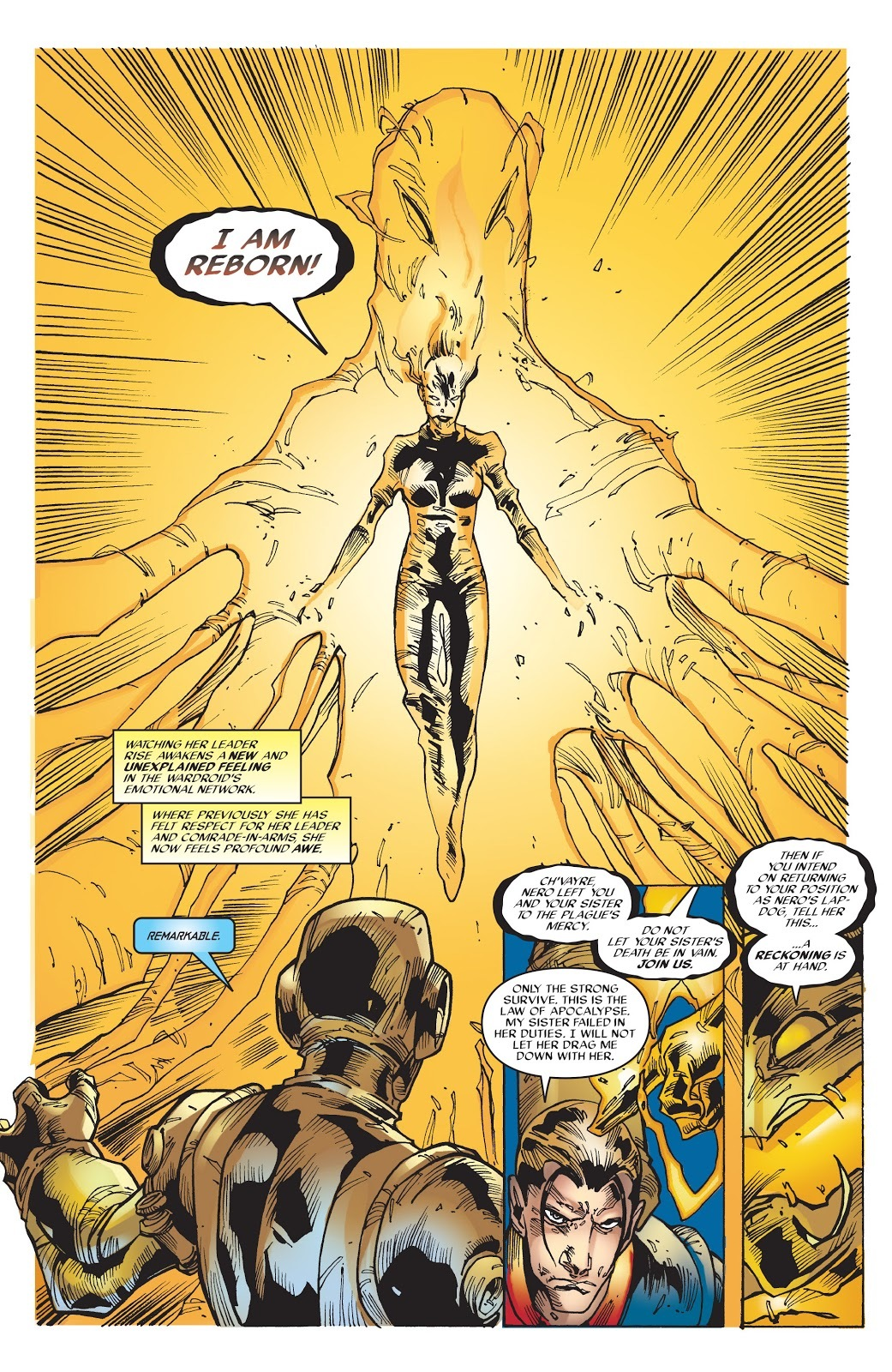 After being overwhelmed by poison, uses the Phoenix's power to resurrect herself - X-Men Phoenix v1 #3