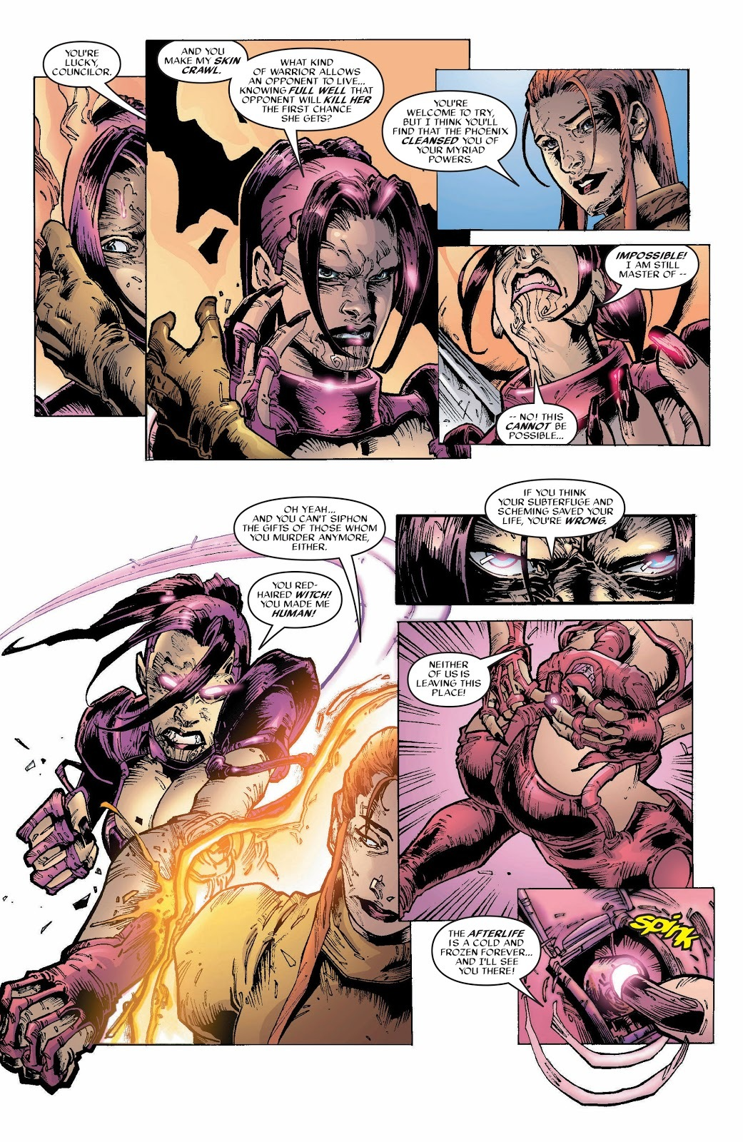 Rachel reveals that while she was releasing the Phoenix Force she used it's power to turn Nero human