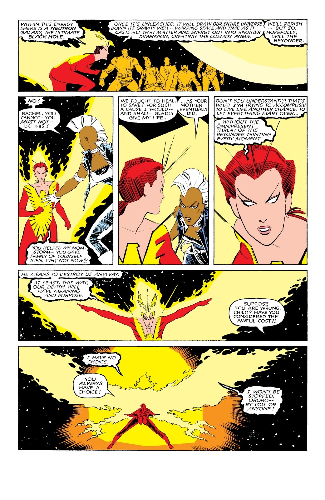 Gathers the life essence of the X-Men and the Starjammers to unleash a Neutron Blackhole in the M'Krann Crystal