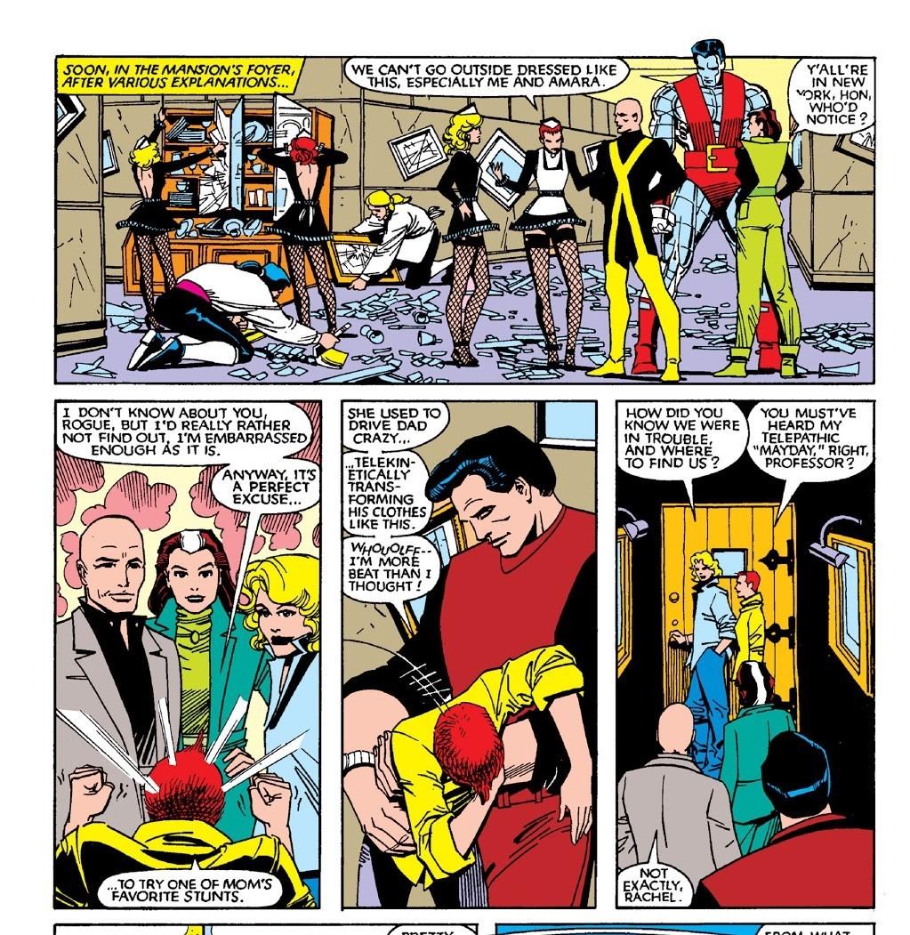 Changes the X-Men to Civilian clothes