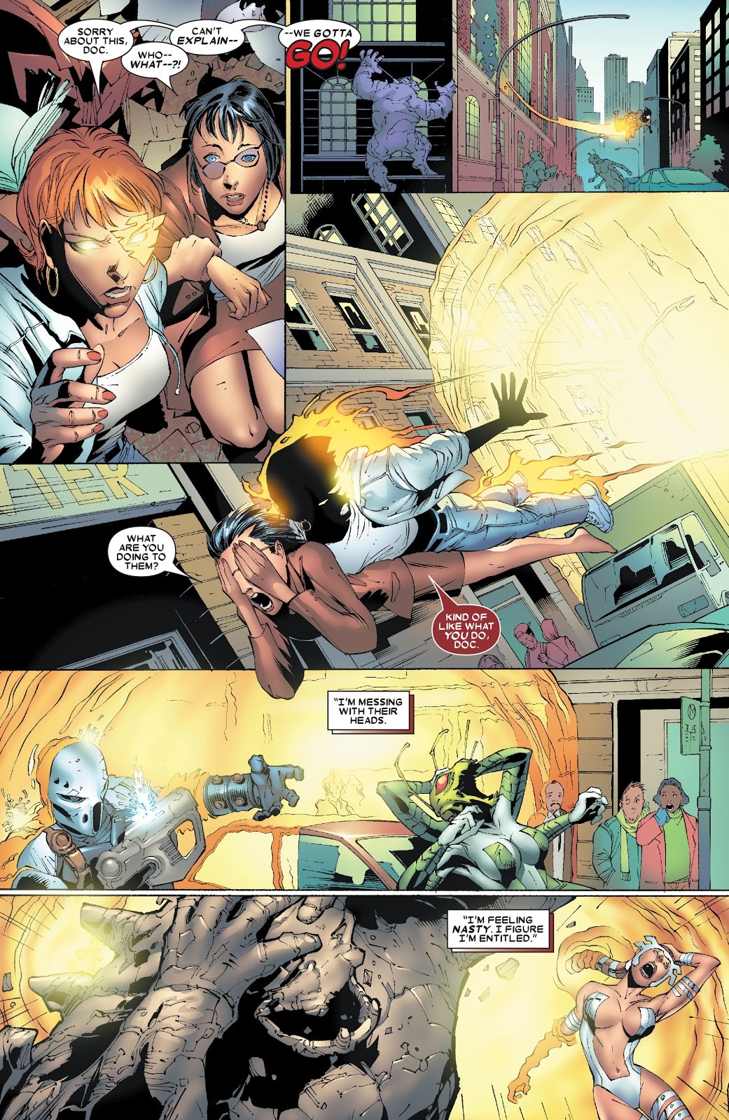 Takes out the Shiar Death Commandos around the city sent to kill her