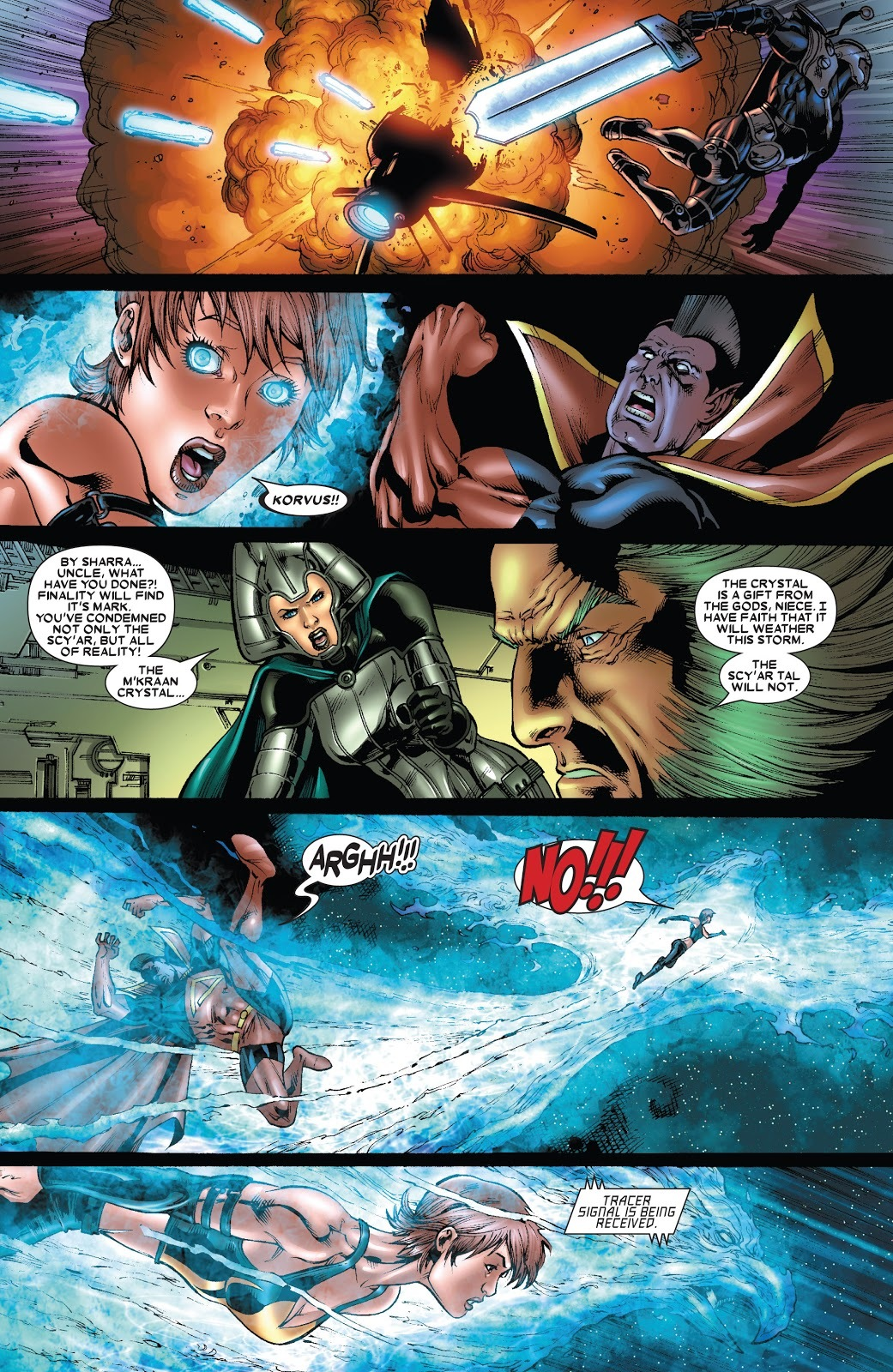 After her partner Korvus is injured Rachel races toward him knocking Gladiator back in the process