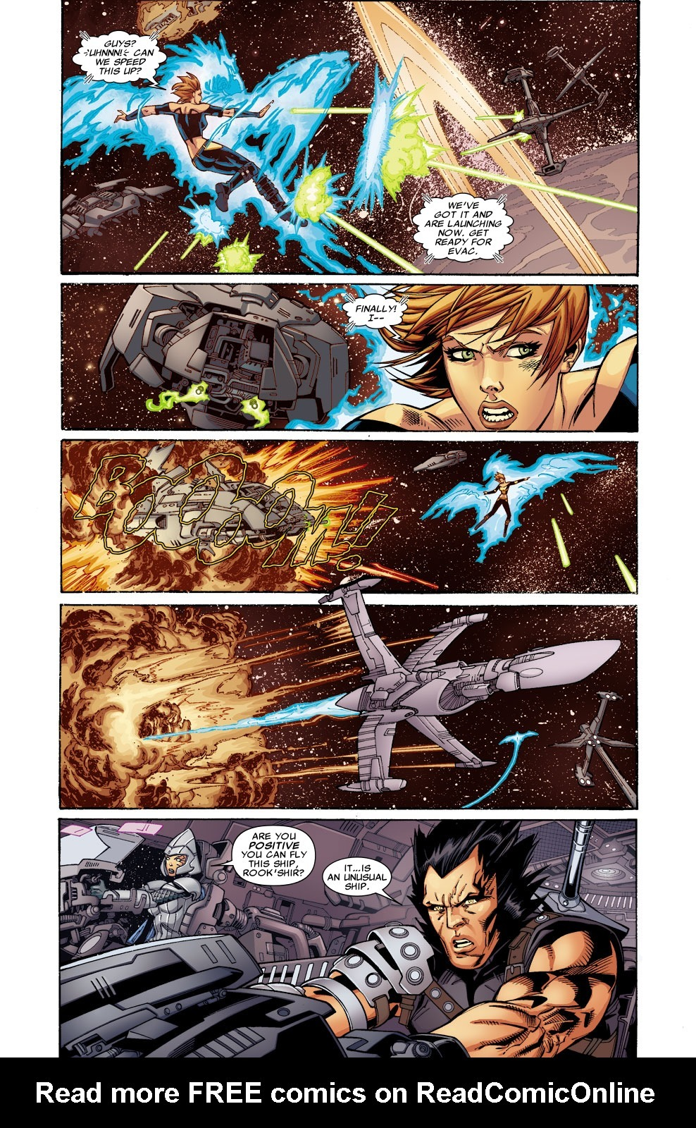 Shields from defense ships while Lilandra and Rook'shir make their escape