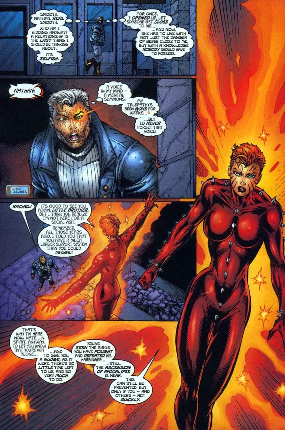 Return to the past as a spirit to prepare Cable for his coming fight with Apocalypse