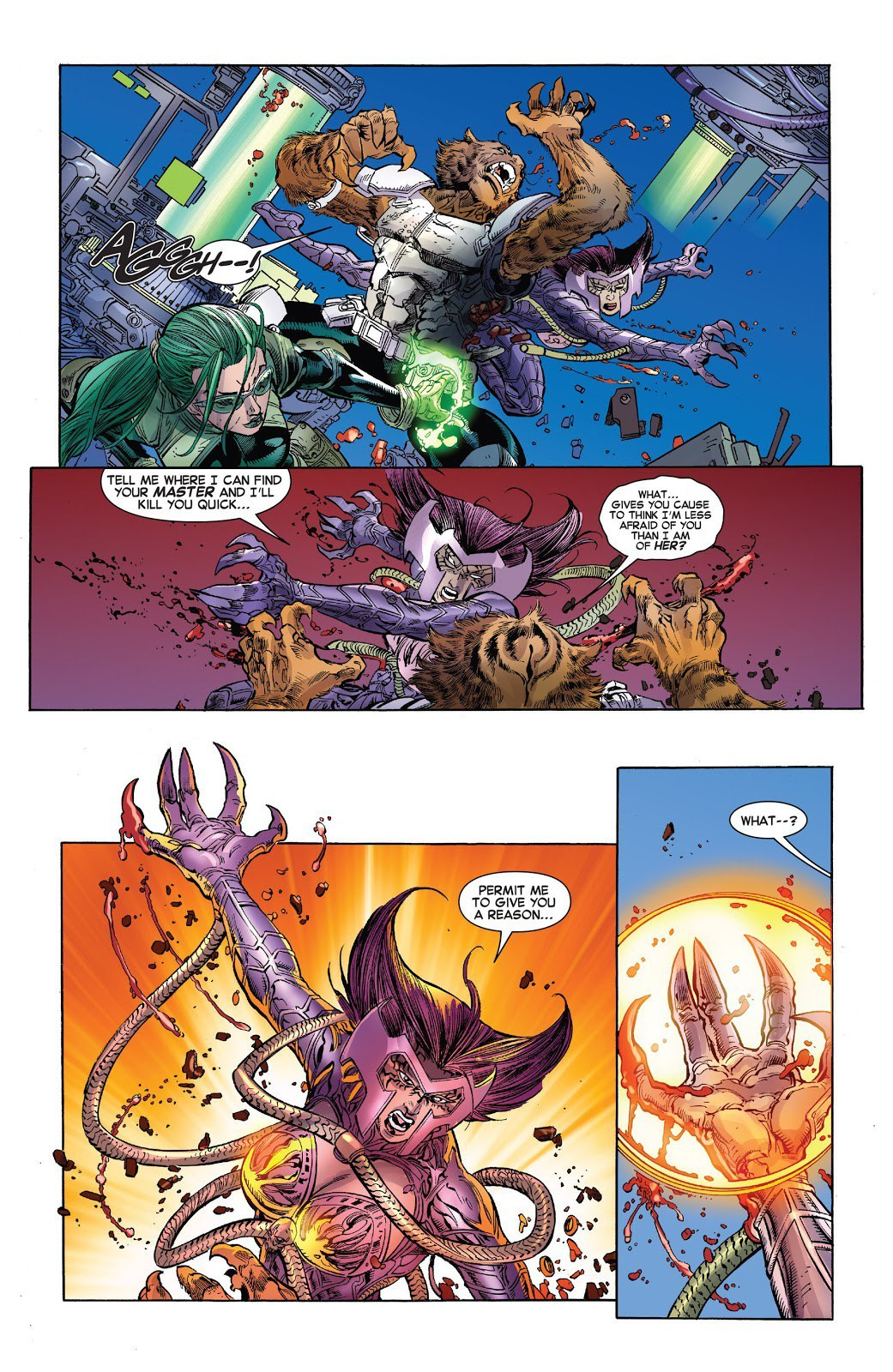 Restrains Deathbird a frequent opponent of Captain Marvel