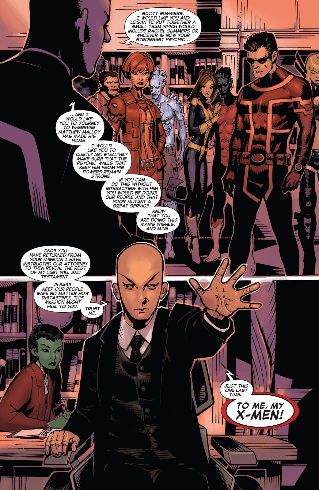 A recorded message left by Xavier after his death implies Rachel to have at some point in the past have been the strongest telepath within the X-Men - Uncanny X-Men v3 #25