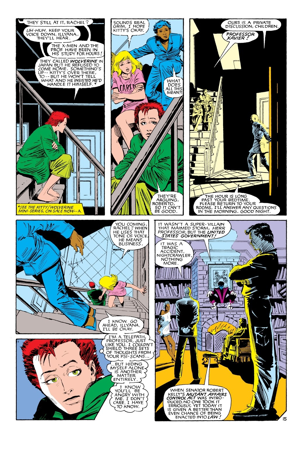 A young Rachel is able to shield herself from Xavier's Psi-scans.