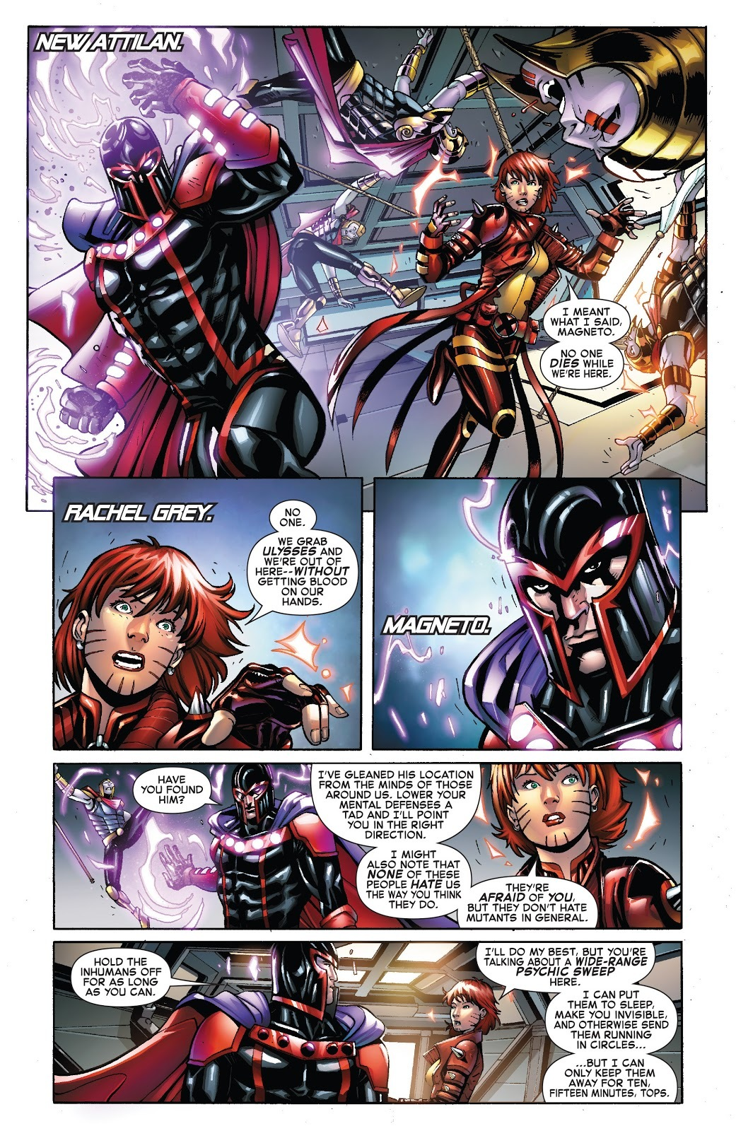 Can communicate with Magneto through his helmet - Civil War 2: X-Men Issue 4