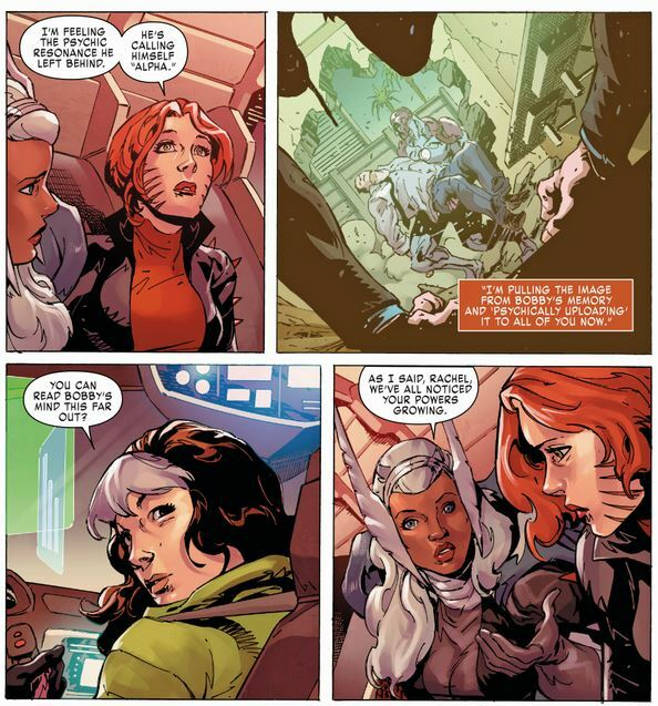 Projects images from Iceman's mind into her teammate's minds from hundreds of miles away - X-Men Gold #27