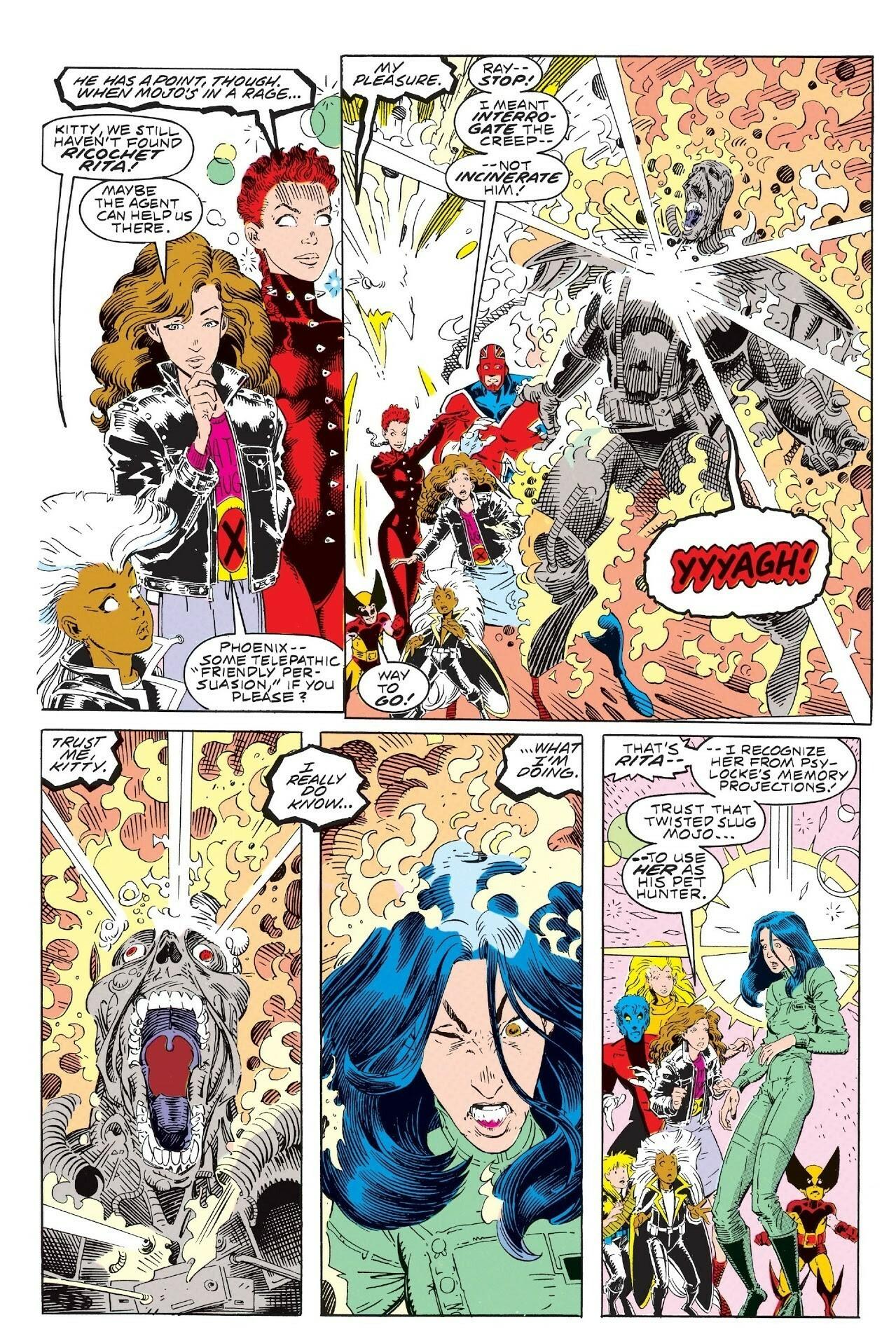 Reverses Mojo's body modifications to Rita Wayword that turned her into his interdimensional hunter - Excalibur Mojo Mayhem