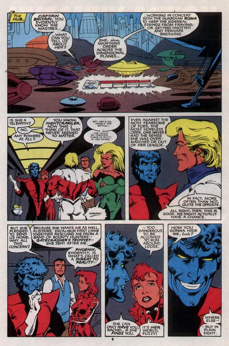 Opal Luna Saturnyne considers the Phoenix's powers to be a threat to all of reality - Excalibur v1 #24