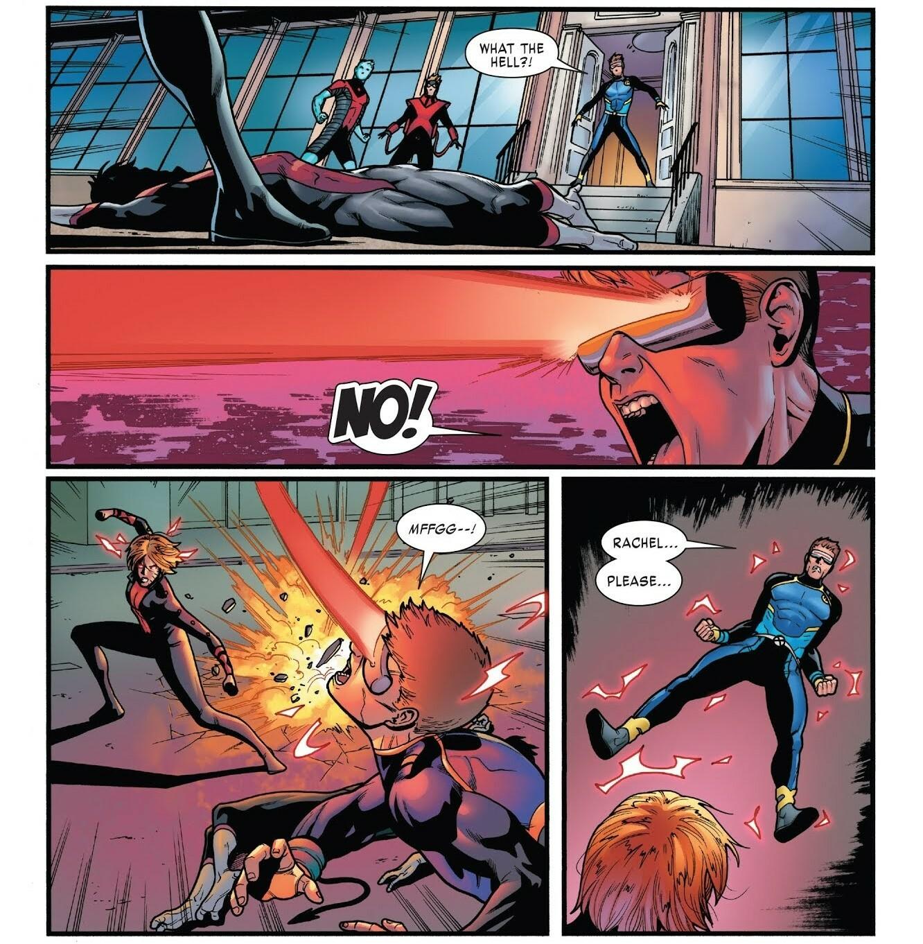 Redirect Teen Cyclops' Optic Blast and restrains him - X-Men Gold v2 #33