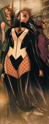 Zatanna in one of Madame Xanadu's apocalypse scenario.