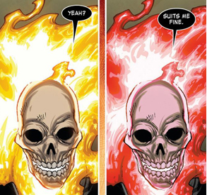 Ghost Rider conforms to his new team.