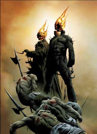 Ketch (left) Johnny (right) as Ghost Riders