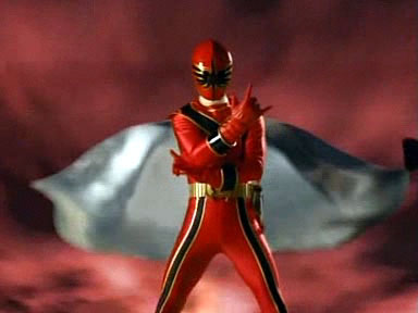Nick as the Red Mystic Force Ranger