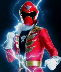 Troy as the Red Super Megaforce Ranger