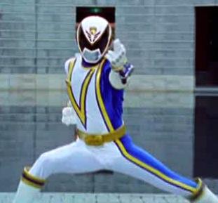 Sam as the Omega S.P.D Ranger