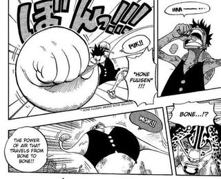 Pre time-skip Luffy activating Gear Third