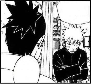 Shikamaru consulting Naruto about Jiraiya's message.