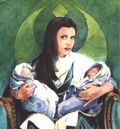 Leia with the twins.