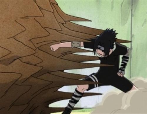 Gaara facing Sasuke.