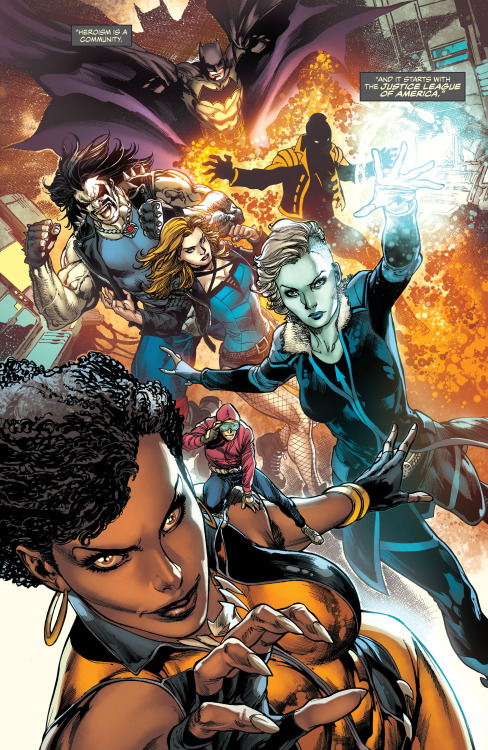 Vixen with the Justice League of America