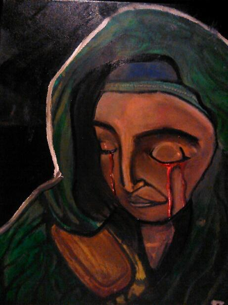 This was a Christmas present for my grandmother. She is a warm-hearted Catholic woman. I know religion is not usually looked up nicely in the comic-verse but this woman saved me from being homeless. I did this painting for her 1 year after she saved me. This is my 4th painting.