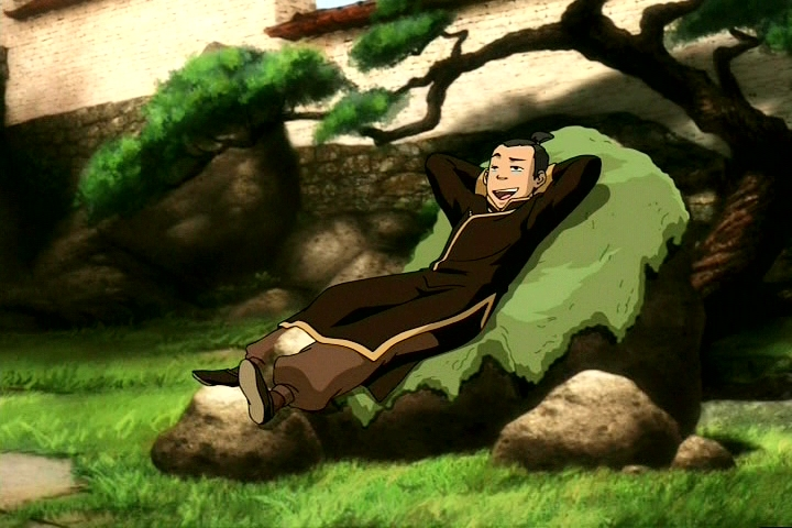As part of his training with Piandao, Sokka was able to quickly come up with a plan to manipulate his surroundings to his advantage for a rock gardening session.