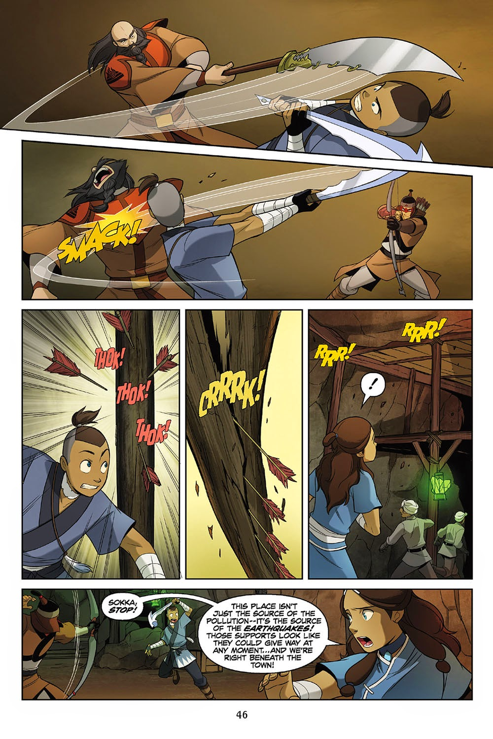 And Sokka was able to avoid multiple arrows from Vachir while fighting the Rough Rhino mercanary: Kahchi.