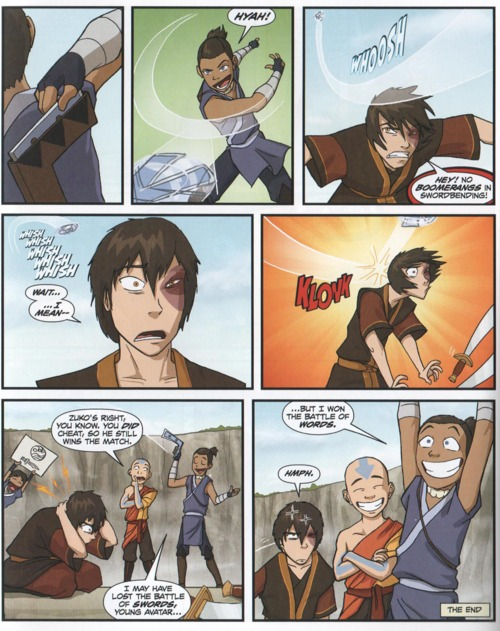 And even Book 3 Zuko got snuck up and tagged again from a returning boomerang after it was barely dodged at close range.