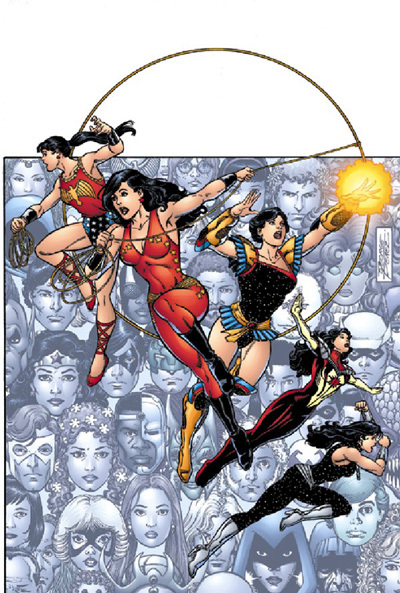 Donna Troy throughout the years