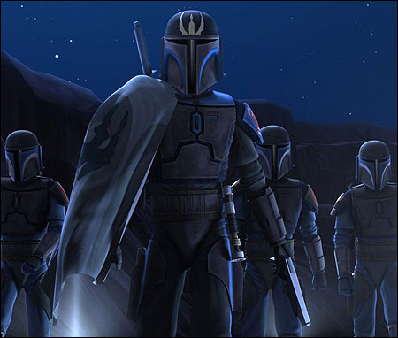 For generations, my ancestors fought proudly as warriors against the Jedi. Now, that woman tarnishes the very name Mandalorian. Defend her, if you will.