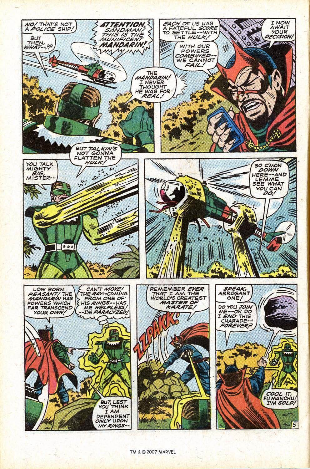Mandarin didn't even want to fight the guy and stomps him in a panel. His ring completely paralyzes and overpowers him. This is the type of power that Iron Man regularly deals with.