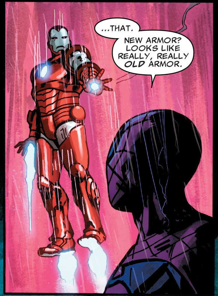 They're probably ripped off designs of Tony's old and obsolete armors too which makes it even funnier.