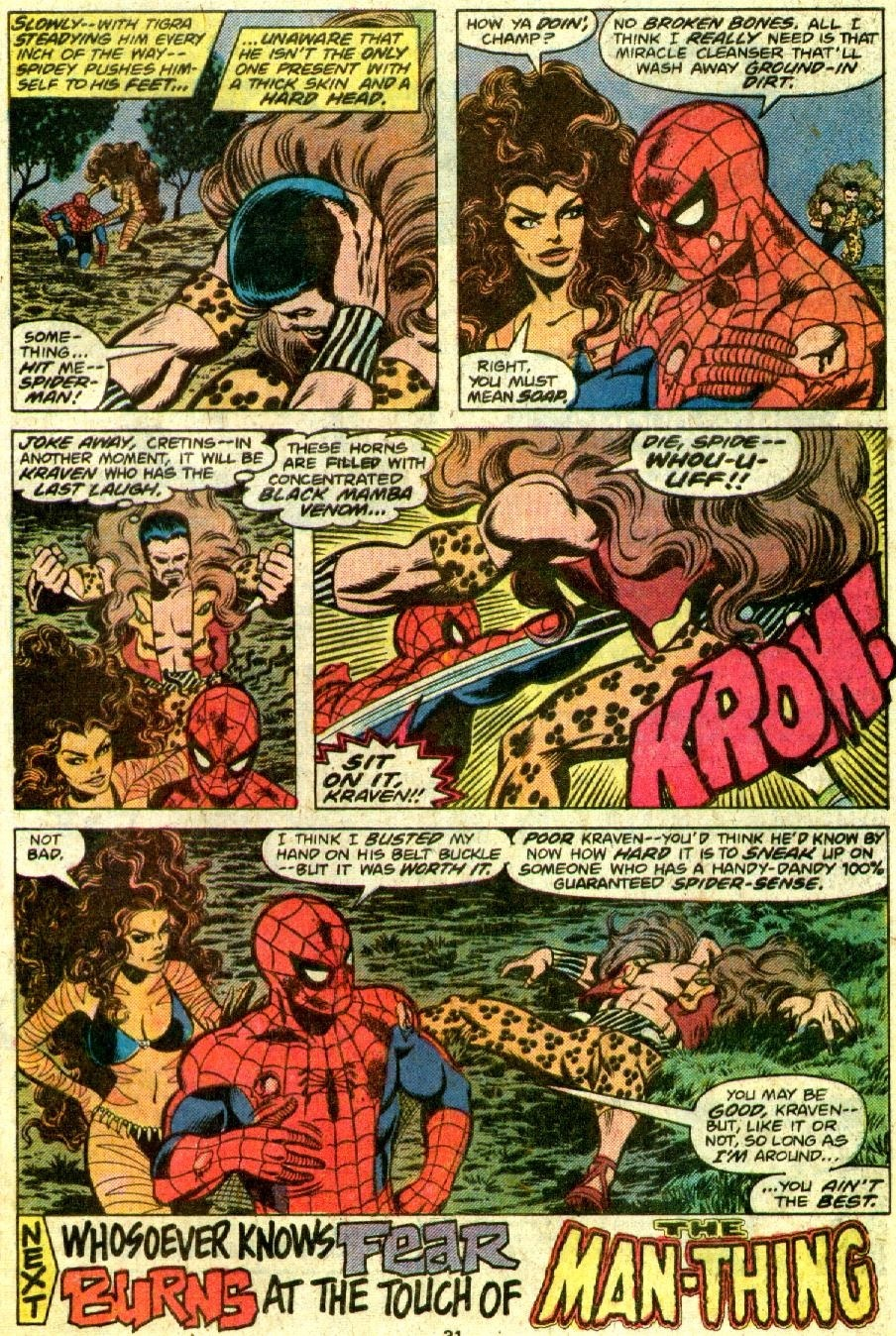 This is a guy that hurts his hand hitting Kraven's belt buckle...