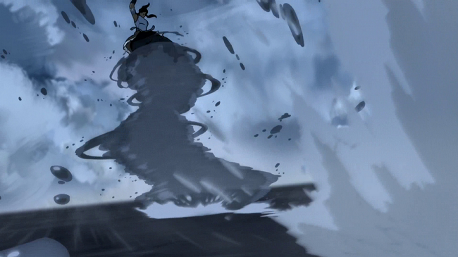 Another instance of Korra using the waterspout