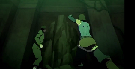 Raises a huge wall of earth to prevent the spirit vines from chasing her and Mako