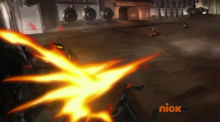 She's able to use fire blast large enough and powerful enough to cover a mecha tank in flames and push it back