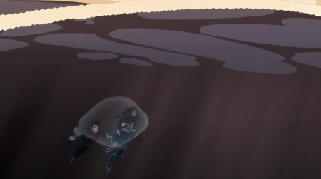 Can isolate a water bubble around her, Mako, and Asami's heads to allow them to still swim with the rest of their bodies