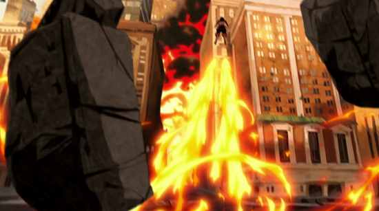 And in the series finale she uses them again to propel herself onto a building rooftop